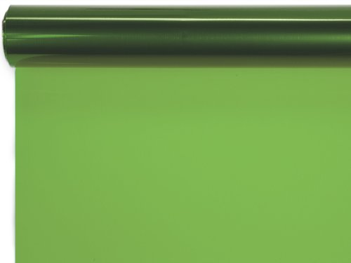 Pack Of 1, 30 ''X 100' Solid Apple Green Cello Roll 1.0 Mil For Easter Baskets Made In Usa by Generic