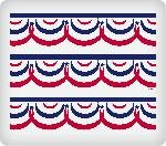 Patriotic Banner Edible Icing Image Cake Border Strips