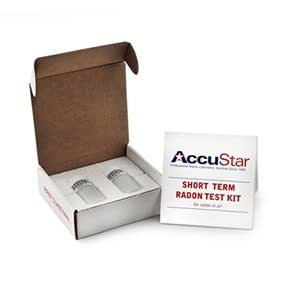 Two pack accustar charcoal ls cls 100i short term radon gas test kit 48 96 hour - The office radon test kit ...
