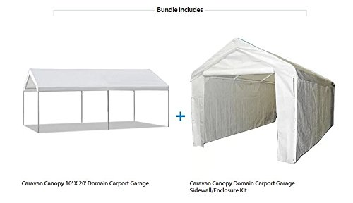 Amazon.com Caravan Canopy 10u0027 X 20u0027 Domain Carport Garage with Sidewall Enclosure Kit Garden u0026 Outdoor  sc 1 st  Amazon.com & Amazon.com: Caravan Canopy 10u0027 X 20u0027 Domain Carport Garage with ...