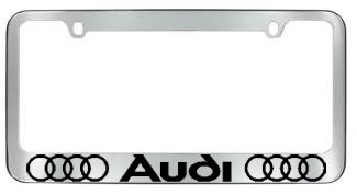 Amazoncom Audi License Plate Frame With Logo Chrome Automotive - Audi license plate frame