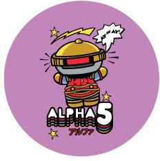 Alpha 5 Ranger BUTTON - 1.25' x 1.25' - Officially Licensed Button Made From High Quality Materials