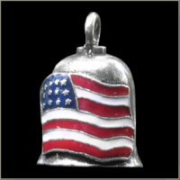 Colored American Flag Gremlin Bell guardian ride harley motorcycle spirit