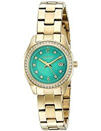 Caravelle New York Women's Quartz Stainless Steel Dress Watch (Model: 44M109) - Caravelle Blue Watch