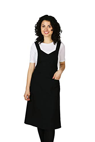Smockers Professional Cross Over Shoulder Apron, Cosmetology Uniform, Fitted Apron