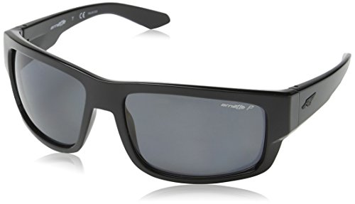 Arnette Men's Grifter Polarized Rectangular Sunglasses, Black, 62 - Arnet Sunglasses