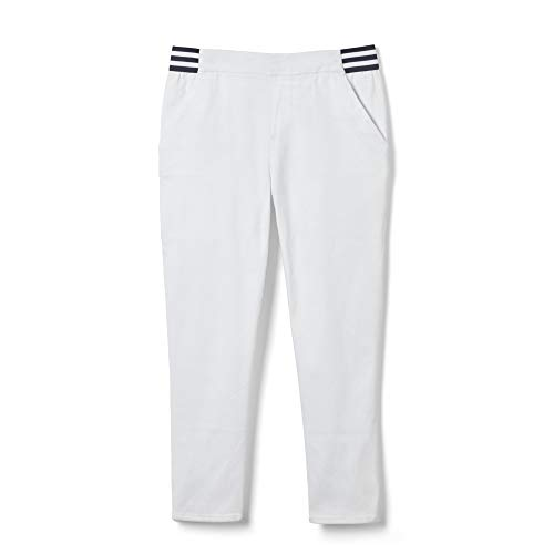 French Toast Girls' Toddler Stretch Skinny Pull-On Capri Pant, White ()