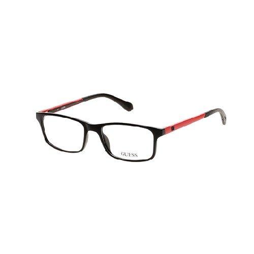 Guess Eyeglasses GU1872 GU/1872 002 Black/Red Full Rim Optical Frame 53mm (Guess Eye Glass Frames)
