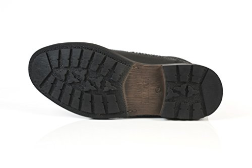 solebay Walter de coffre noir en cuir à lacets Casual pour Homme UK 7–12