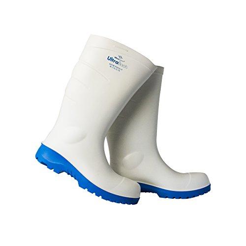 - UltraSource Polyurethane Steel Toe Work Boots, White, Size 9