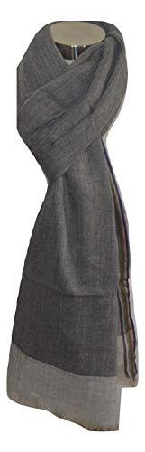 - 100% Merino Wool Scarf,Herringbone Jacquard, Soft, Light, Very Warm, Breathable,Wool Scarf. (Grey). X2650