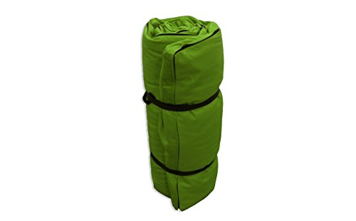 Futon Portatile Verde, 200x140x4 cm Futon On Line 0814003