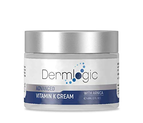 Vitamin K Cream- Moisturizing Bruise Healing Formula. Dark Spot Corrector for Bruising, Spider Veins & Broken Capillaries. Reduces Under Eye Dark Circles, Fine Lines, Puffiness, Wrinkles with Arnica