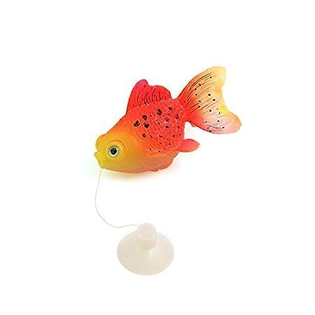DealMux aguamarina paisaje 1 PCS Fish Tank Naranja Rojo ...