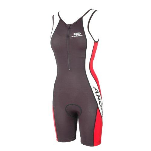 Aropec Womens Triathlon Suit One Piece Black /& Red