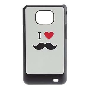 MOFY- Carcasa Dura Para Amantes de los Bigotes para el Samsung Galaxy S2 I9100