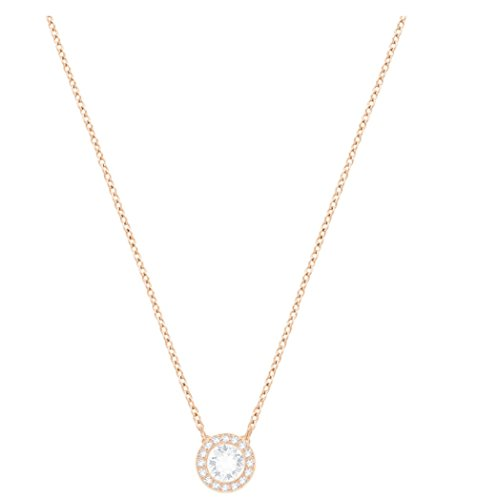 Swarovski Crystal White Angelic Rose Gold-Plated Pendant (Pendant Gold White Plated)