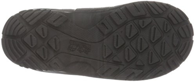 Jack Wolfskin Unisex Kids' Iceland Texapore High K Ankle Boots, Black (Burly Yellow Xt 3802), 1 UK