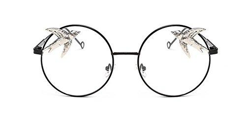 Style Cercle Rond Pour Feuille en Polarisées et Hommes Lunettes Steampunk de A Femmes Métallique du Soleil Retro Inspirées Transparente f7Xw7PxqzR