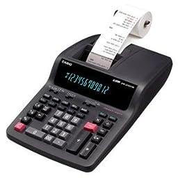 DR-210TM Two-Color Desktop Calculator, 12-Digit Digitron, Black/Red