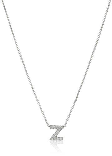 Roberto Coin ''Tiny Treasures Love Letter'' 18k White Gold Diamond Block Letter Z Pendant Necklace by Roberto Coin