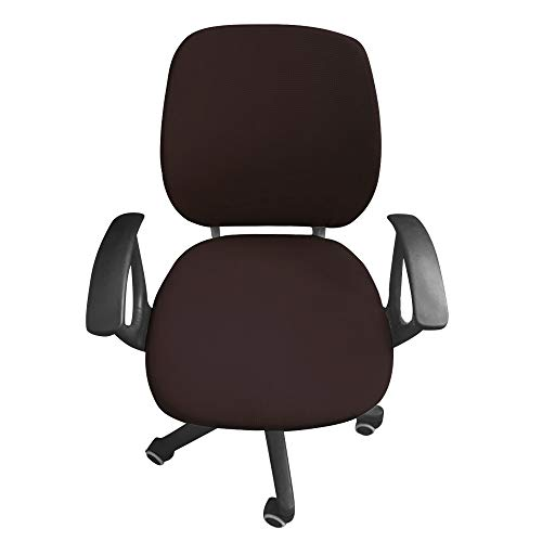 Amazon.com: Flexible Computer Chair Cover Office Swivel Chair Cover ...
