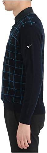 ゴルフウェア セーター Vネック ニット 防風素材 52MC9521 メンズ ディープネイビー ウィメンズフリー(23~25cm) (FREE サイズ)