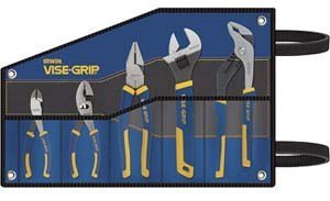 Irwin Vise-Grip 2078708 5-pc ProPlier Set, Slip Joint, Lineman Plier, Adj. Wrench, Groove Joint,Tray,Bag by Irwin Tools