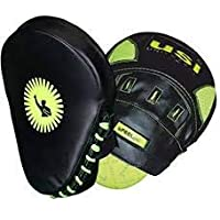 USI Coaching Focus Curved Pad PU Neon Series 627CRPU for Boxing MMA Training Punch Mitt