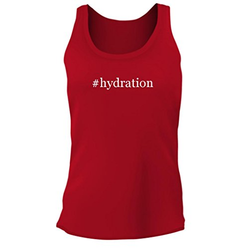Tracy Gifts #Hydration - Women's Junior Cut Hashtag Adult Tank Top, Red, (Fall Hydration Pack)