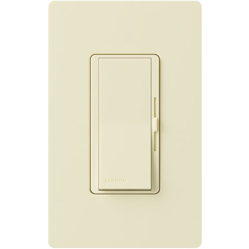 Lutron Diva Dimmer Switch for Halogen and Incandescent Bulbs, Single-Pole, with Wallplate, DVW-600PH-AL, Almond