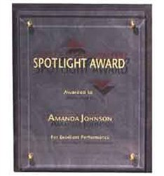 8.75 x 10.75 Slate Plaques Engraved with Glass Panel by Gino's Awards Inc