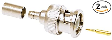Allen Tel GBNC60-O 50-Ohm BNC Coaxial Connector for O Crimp, Compatible