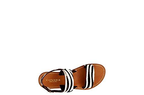 Cafè Noir KGE834 Sandals FRIDES in The Pony 625 Bianco/Nero SvOUlk8