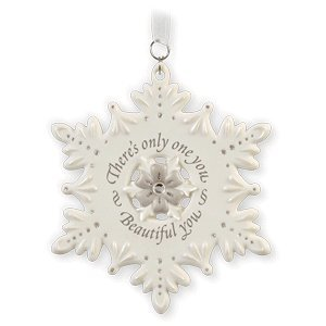 QXG7523 Tradition with Elegance Collection Beautiful You Porcelain Snowflake 2010 Hallmark Keepsake Ornament