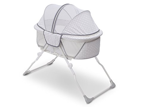 (Delta Children EZ Fold Ultra Compact Travel Bassinet, Inner Circle)
