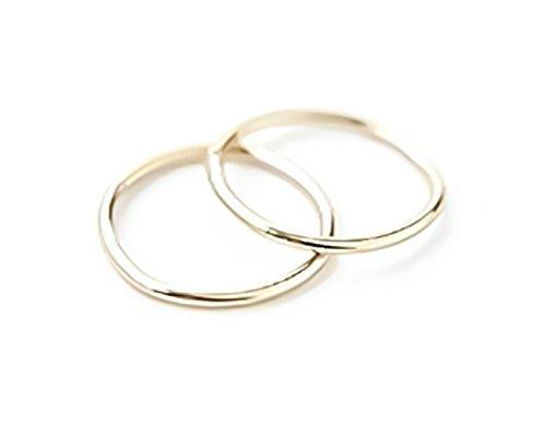 17261ccfd440b 14k Gold Seamless Sleeper Hoop Earrings 8mm 10mm 12mm Endless Huggie ...