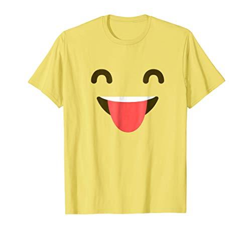 Face With Tongue Shirt - Emoji Halloween -