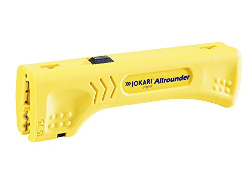 JOKARI 30900 Allrounder Cable Stripper for Multiple Round and Flat Cables, Yellow ()