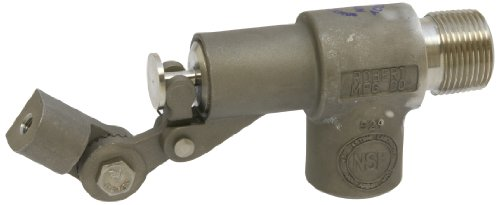 Robert Manufacturing R1361 Series Bob 316 Stainless Steel Float Valve Assembly with Stem, PTFE Disc and Cup, 3/4'' NPT Male Inlet x 3/4'' NPT Female Outlet, 85 psi Pressure by Robert Manufacturing