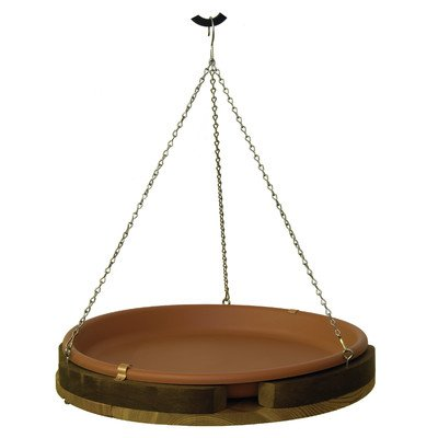Stovall 2M Hanging Bird Bath, Western Red, 18-Inch ()