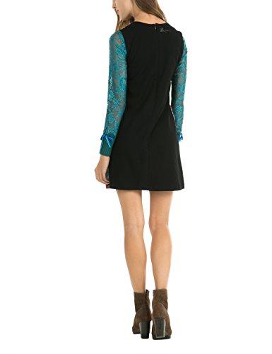 Desigual Vestito nieve Nero Donna Negro Vest wqYfPx1qnT