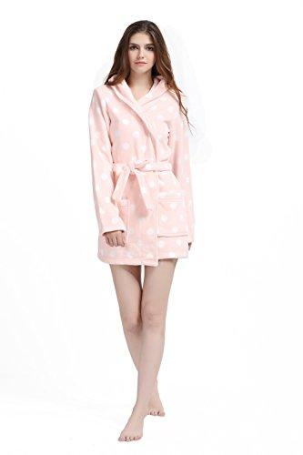 XMASCOMING Womens Fleece Bathrobe Housecoat
