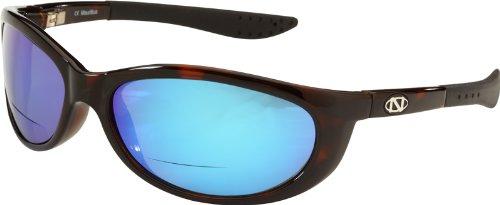 Ono's Sand Island Polarized Bi-Focal Sunglasses in Dark Tortoise with Mirrored Blue - In Sunglasses Sand