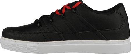 Lugz Mens Pronto Lo Sneaker Svart / Mars Röd