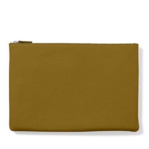 Large Pouch - Full Grain Leather Leather - Chartreuse (Green)