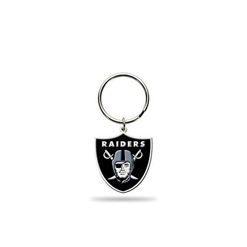 (Rico Industries NFL Oakland Raiders Flexible Team Logo Keychain)