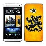 Shell-Star ( National Flag Series-Flanders ) Snap On Hard Protective Case For HTC One (M7)