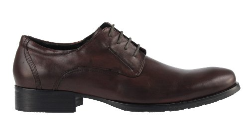 Kenneth Cole Capitale Ville Le Mens Lace Up Oxford Chaussures Marron Cuir Lisse
