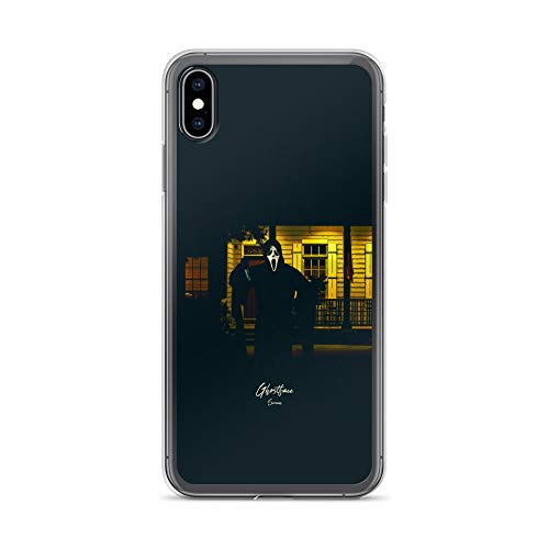 iPhone Xs Max Case Anti-Scratch Motion Picture Transparent Cases Cover Ghostface Scream Movies Video Film Crystal Clear